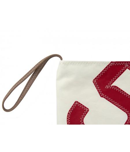 Pochette dragonne 5 blanc rouge