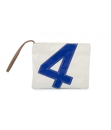Pochette dragonne 4 blanc bleu