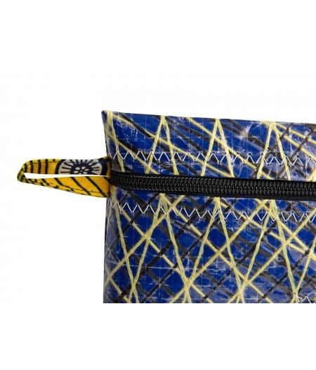 Pochette zippée bleu