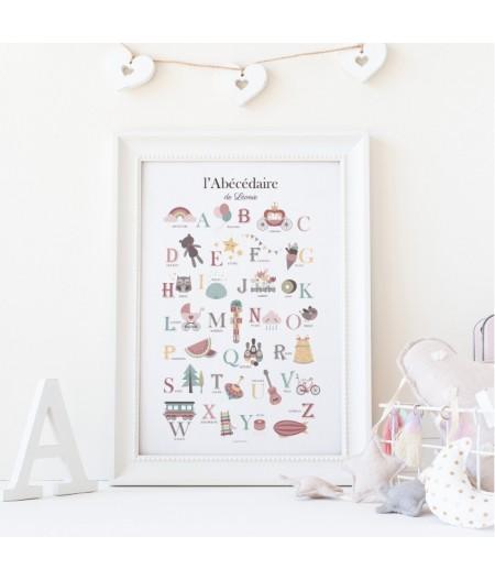 Affiche décorative Abécédaire de Demoiselle