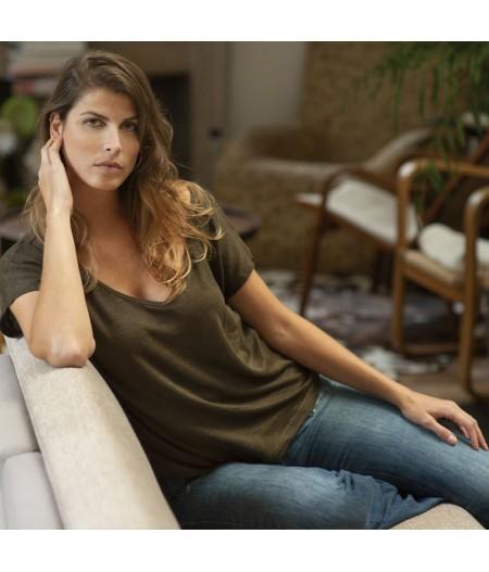 T-shirt en lin femme Splice Paris