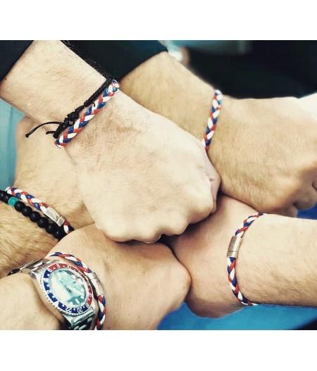 Bracelet tressé tricolore français