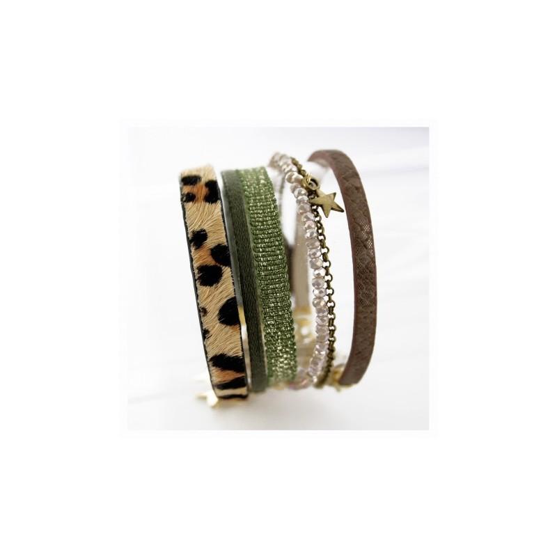 Bracelet léopard femme