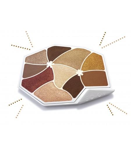 Palette de maquillage couleur Ambre naturelle