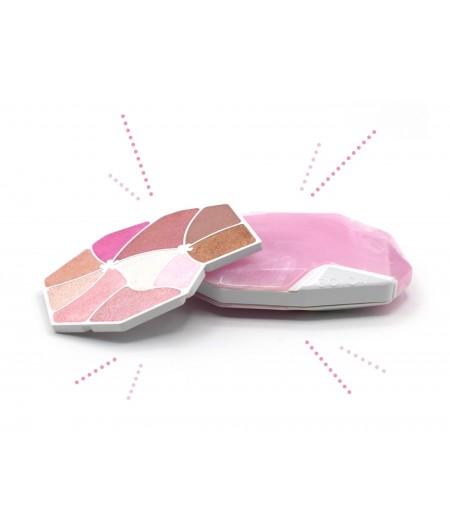 Palette de maquillage Quartz rose en pierre naturelle