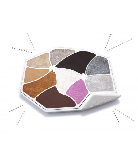 Palette de maquillage couleur diamant naturelle