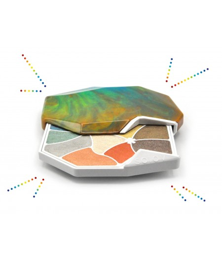 Palette de maquillage Tourmaline en pierre naturelle