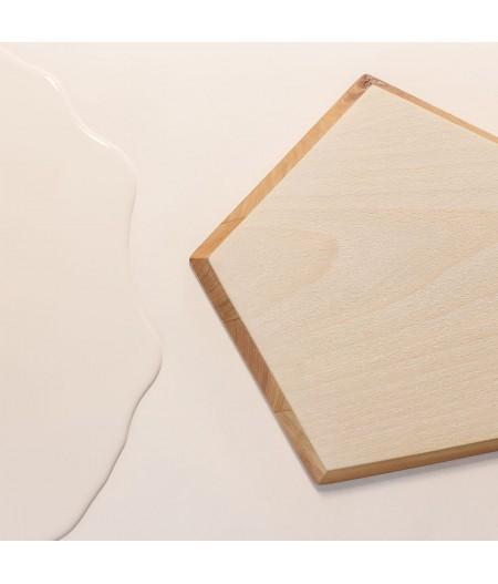 Lampe à poser chêne Lin blanc