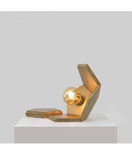 Lampe à poser chêne or