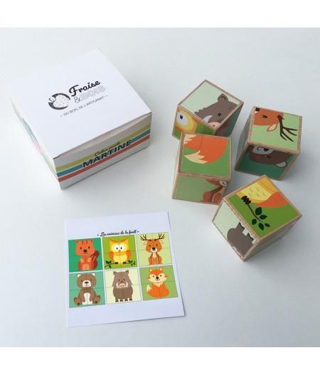 """Puzzle Martine en bois """"animaux en foret"""""""