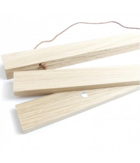 Suspension bois pour affiche décorative