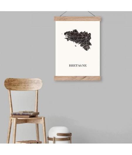 CARTE Design de BRETAGNE pour décoration