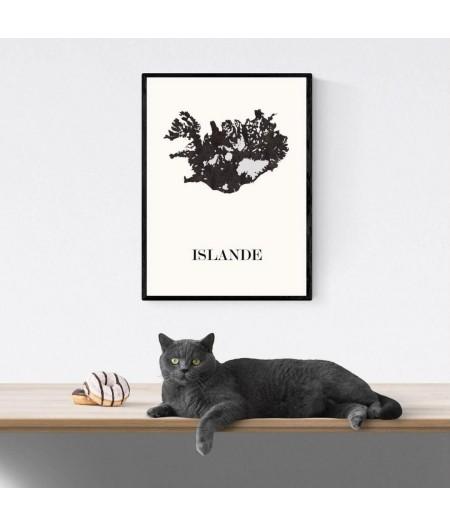 CARTE Design d'ISLANDE pour décoration