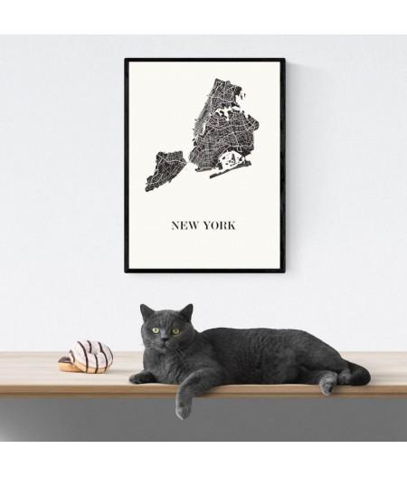 CARTE Design de NEW YORK pour décoration