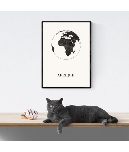 CARTE Design d'AFRIQUE pour décoration