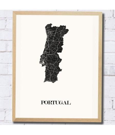 CARTE DESIGN du PORTUGAL pour décoration