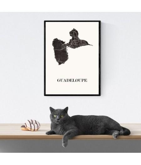 CARTE Design de GUADELOUPE pour décoration