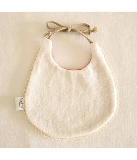 Bavoir bébé à dentelle bio