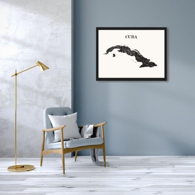 CARTE Design de CUBA pour décoration