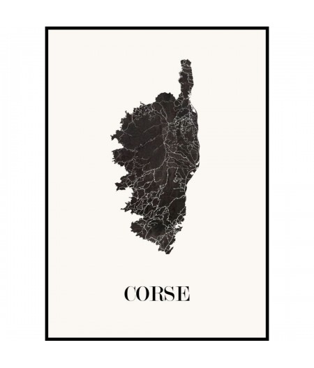 CARTE Design de CORSE pour décoration