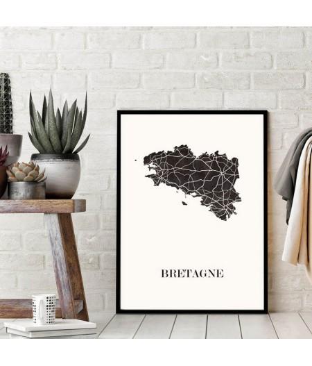 Carte décorative Bretagne