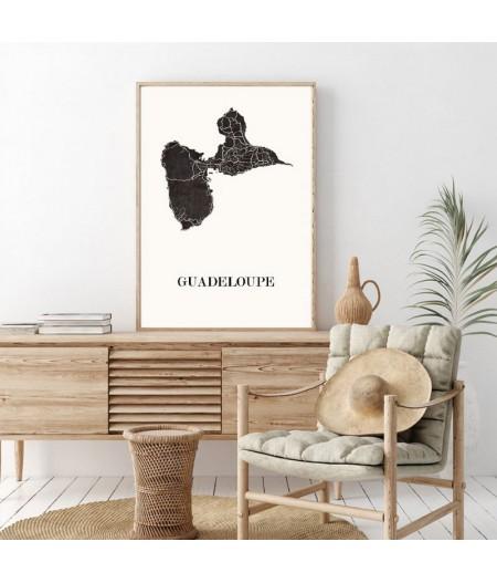 Carte Design de Gouadeloupe
