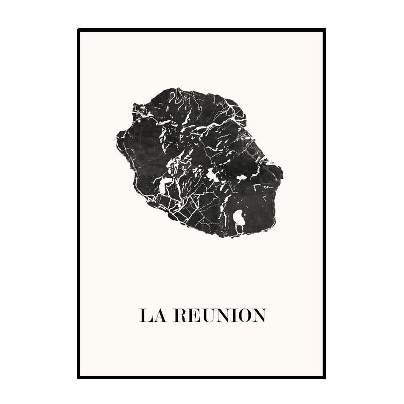 Carte Design de l'Île de la Réunion