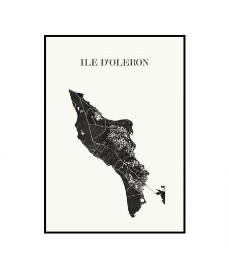 Carte Design de l'Île d'Oléron