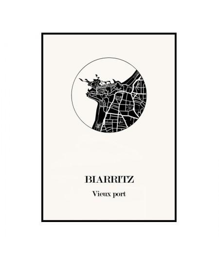 Carte Design de Biarritz