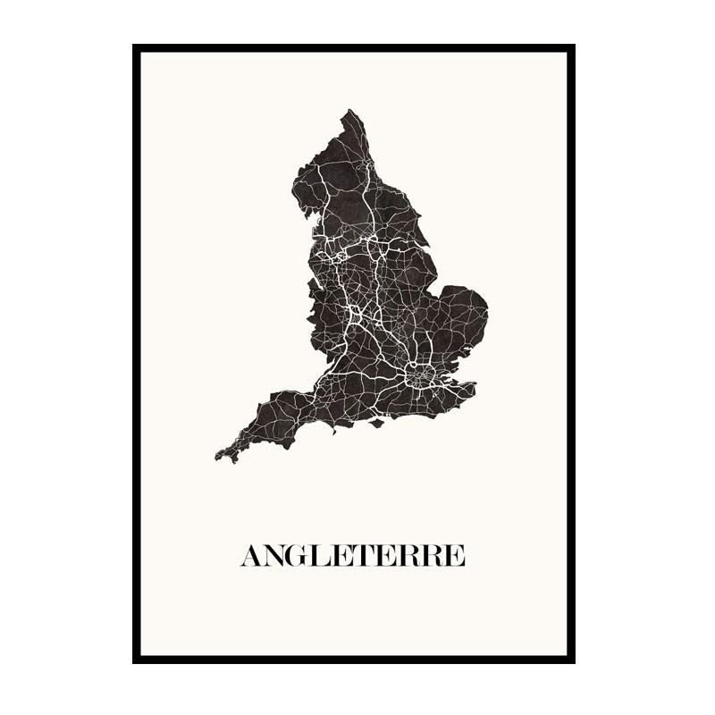 Carte Design d'Angleterre