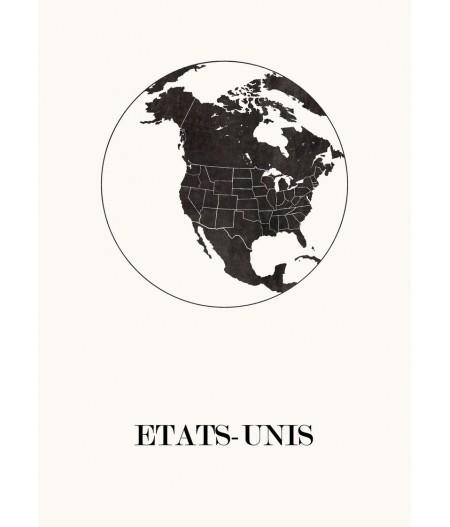 Carte Design des Etat-Unis