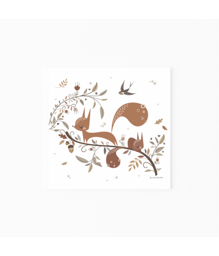 Affiche décorative Écureuils
