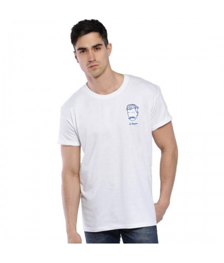 T-shirt blanc broderie le voyou