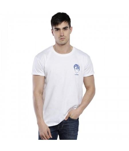 T-shirt blac brodé le poète