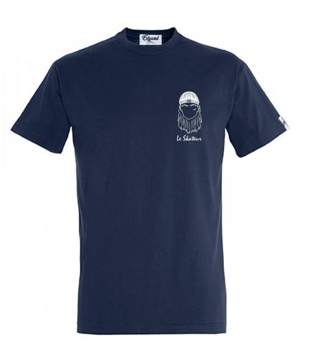 T-shirt bleu marine brodé le skateur