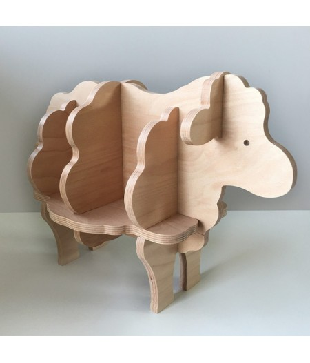 Augustin le Mouton Bibliothèque en bois pour enfant