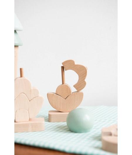 Jouet en bois bébé Picoti Tulipe / Coquelicot
