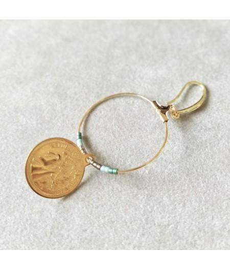 Boucles d'oreilles pièces d'or