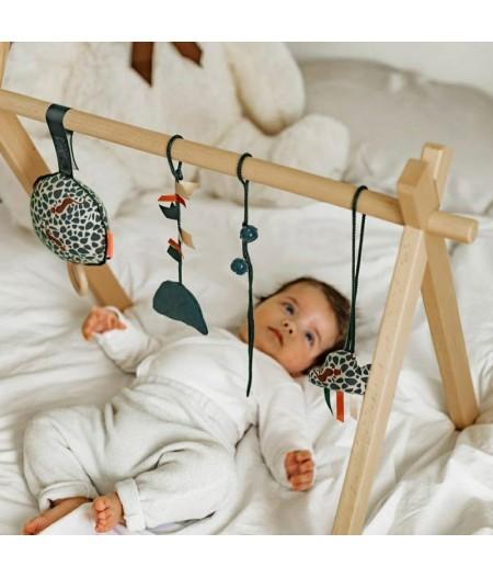 Arche d'éveil en bois avec coussin musical