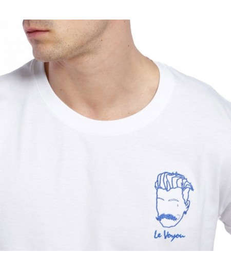 T-shirt broderie le voyou blanc