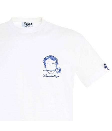 T-shirt blanc le romantique