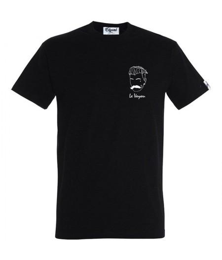 T-shirt broderie le voyou noir