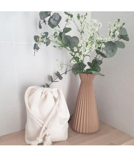 Vase ISHI en bois recyclé