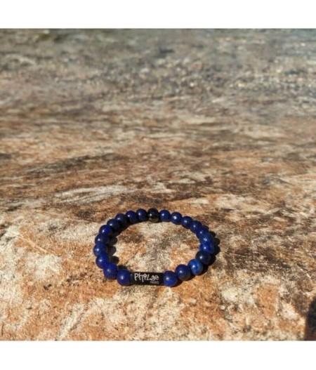 Bracelet bleu en lapis lazuli