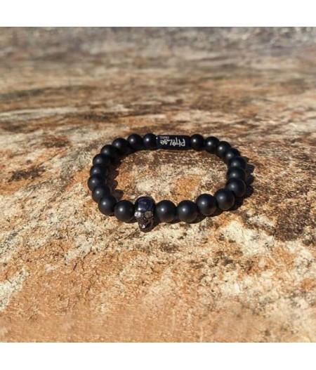 Bracelet noir en onyx