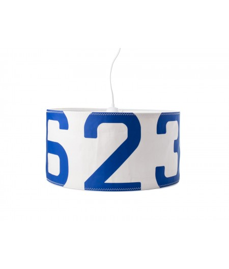 Lampe suspendue bleue Ø38