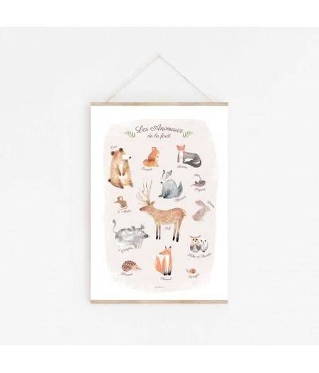 Affiche décorative Les Animaux de la Forêt