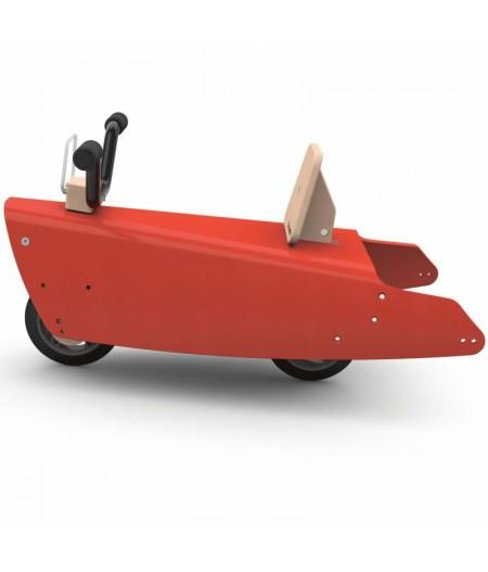 Jouet moto 5 fonctions en 1Rouge